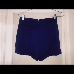 Forever 21 high waisted navy blue shorts